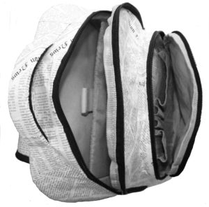 Newspaper Print Backpack