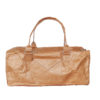 lightweight brown tyvek travel bag with brown zip