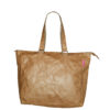 brown tyvek tote bag with buckle fittings