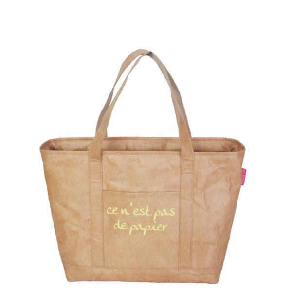 tyvek lightweight tote bag original brown paper ce n'est pas du papier logo