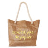 Tyvek shoulder tote bag with rope handle French logo