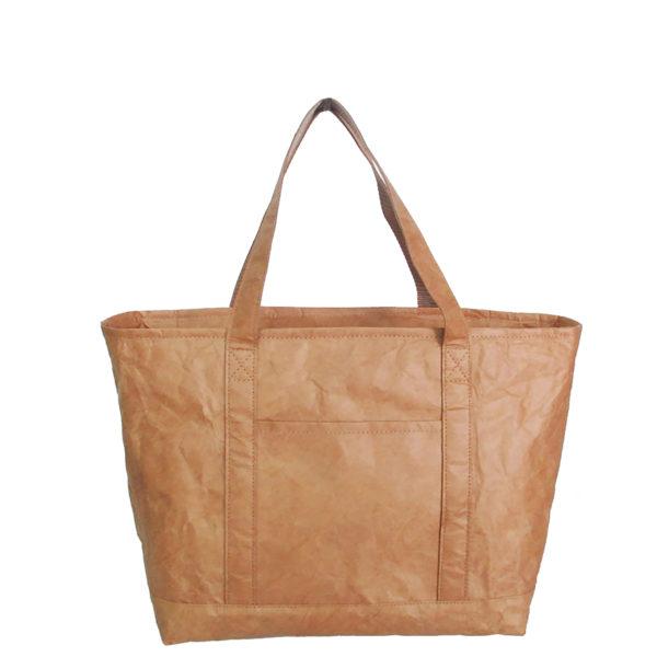 tyvek lightweight tote bag original plain brown