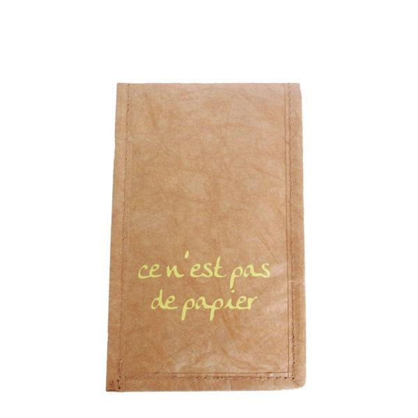 brown tyvek phone case purse french logo