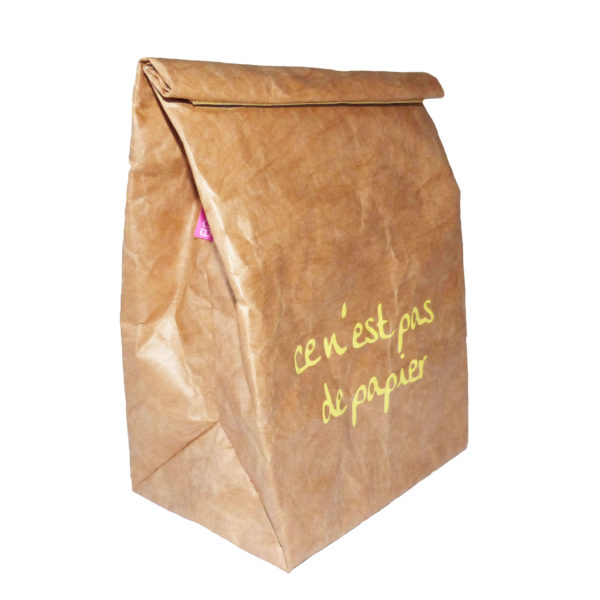 brown tyvek lunch sandwich bag french logo