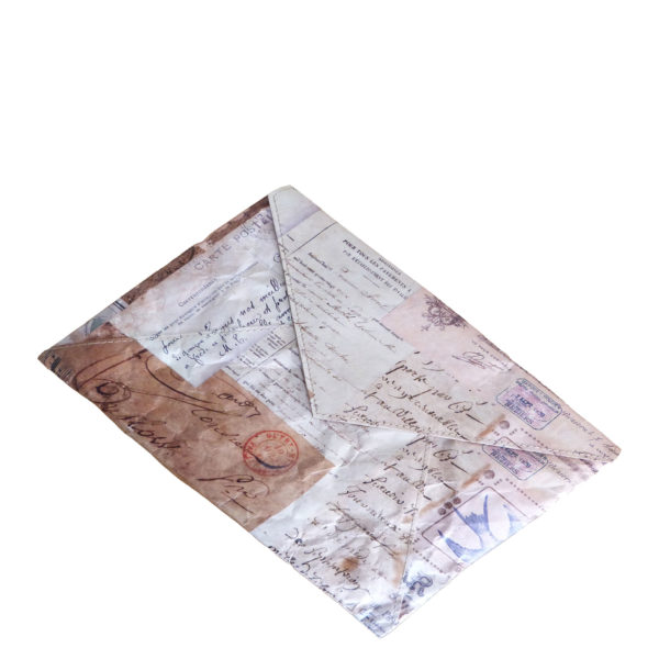 envelope clutch tyvek french receipts