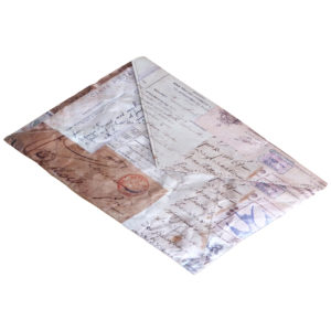 Tyvek Clutch Bag Antique French Print