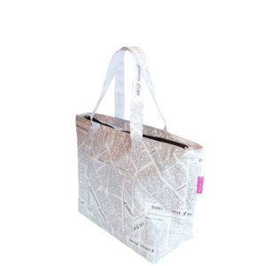 Eco-friendly Tyvek Newspaper Print Tote Bag