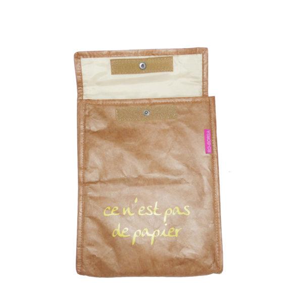 brown tyvek envelope ipad cover case velcro