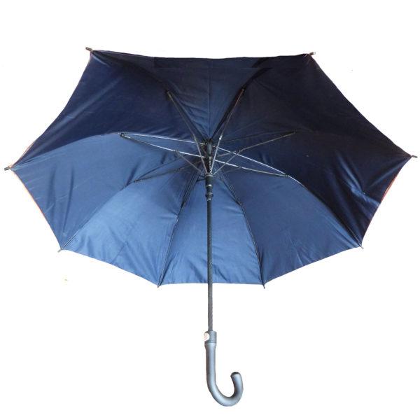 Brown Tyvek umbrella with dark blue lining