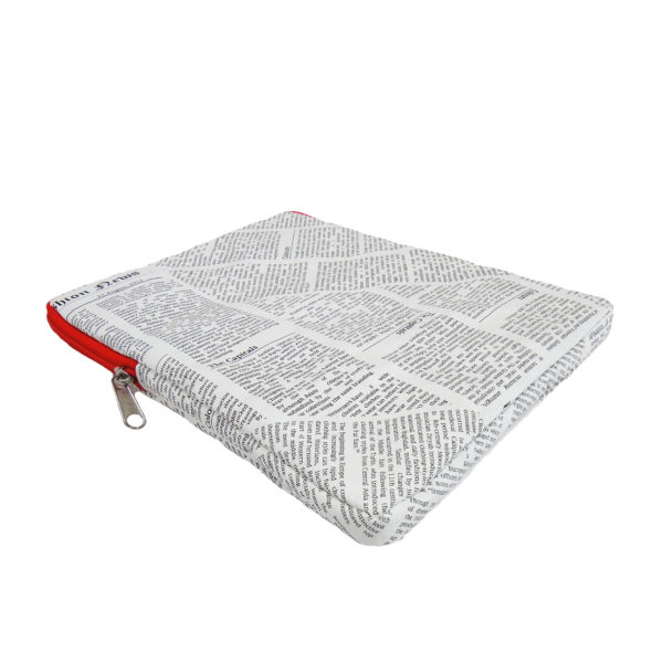 ipad cover tyvek red zip newspaper